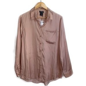 3/30$ NWT LORD & TAYLOR Blush Silky Blouse, Large